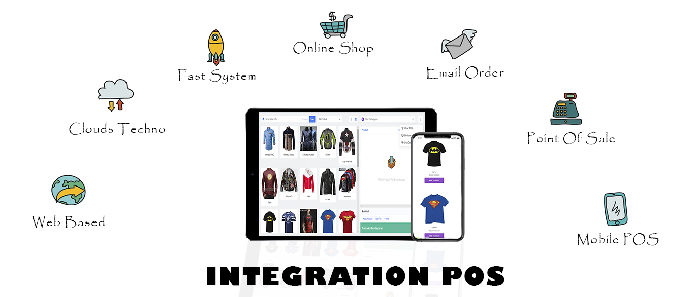 ALL IN ONE ONLINE SHOP , WEBSITE , APK , POINT OF SALE APPS INTEGRATION